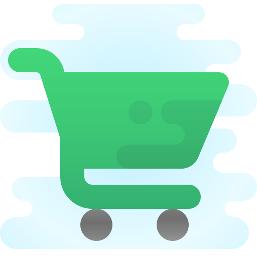 Green e-commerce shopping cart icon in Leominster, MA