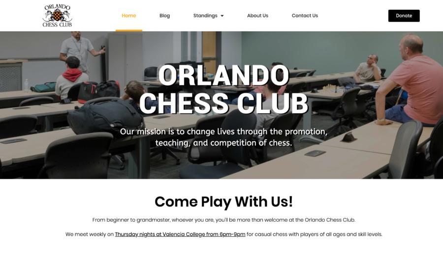 Website of Orlando Chess Club